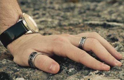 gold filled twist 14k gold thumb ring size 10 braid finger ring for men or women