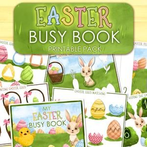 Easter Busy Book for Toddlers, Easter Printable Activity Book Pdf, Spring Learning Binder Preschool Quiet Book Toddler Busy Bag Easter Pages