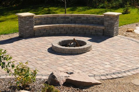 Permanent fire pit seating