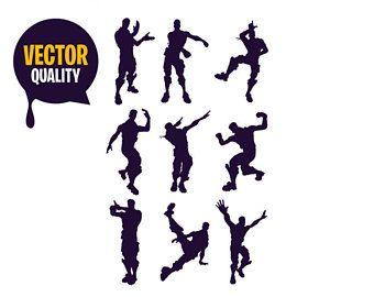 Fortnite Emotes Svg Eps Png Fortnite Clipart Emotes Dance Fortnite Svg Cricut Free