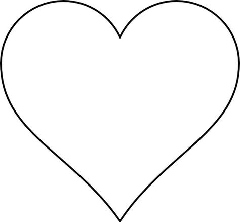 small heart template to print - heart cut out template images