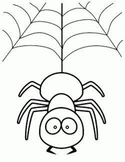 Orumcek Boyama Sayfasi Spider Coloring Page Free Printable