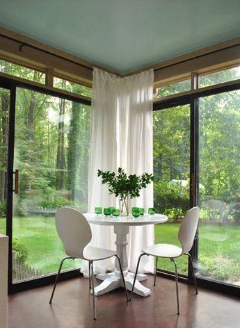 28 Pieces Of Sunroom Inspiration Corner Curtains Sunroom