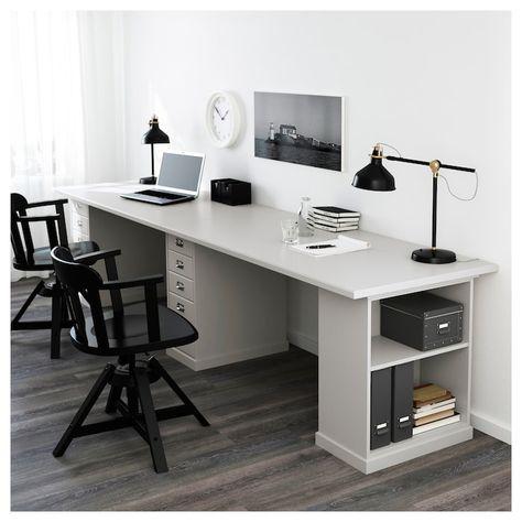 8 Kwsp Ideas Home Office Design, Double Desk Home Office Ikea
