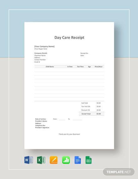 Daycare Receipt Template Free Pdf Google Docs Google Sheets Excel Word Template Net Receipt Template Facebook Frame Prop Facebook Frame