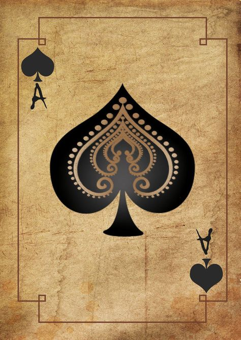 A5 Print – Vintage Playing Card Ace of Spades (Picture Poster Texas Poker Art) | eBay