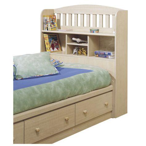 Under Bed Storage And Shelf Headboard Kids Bed Furniture Bookcase Headboard Bookshelf Bed