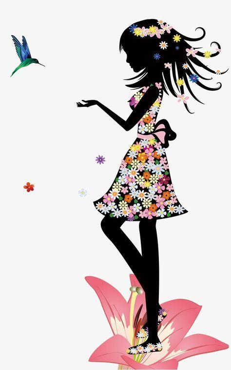 Girl With Petal Girl With Silhouette Girl Girl Silhouette Petal
