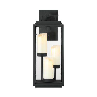 Eurofase Cathedral Black Battery Powered Led Outdoor Lantern Electric Candle Led Lanterns Led Candles