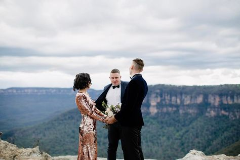 I can leavvveee my clothes on  photo by @heartandcolour in the #bluemountains for the @elopementcollective with @posysupplyco #marriedbyjosh #sydneycelebrant #sydneywedding