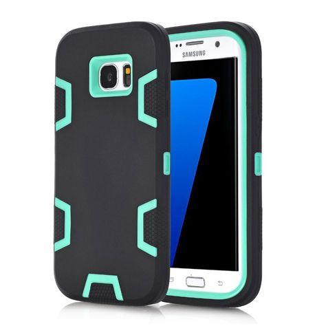 For Samsung Galaxy S7 S7 Edge Phone Cases Shockproof Hybrid Armor Rubber Heavy Duty Case Full Body Cover Screen Protector Film S Izobrazheniyami