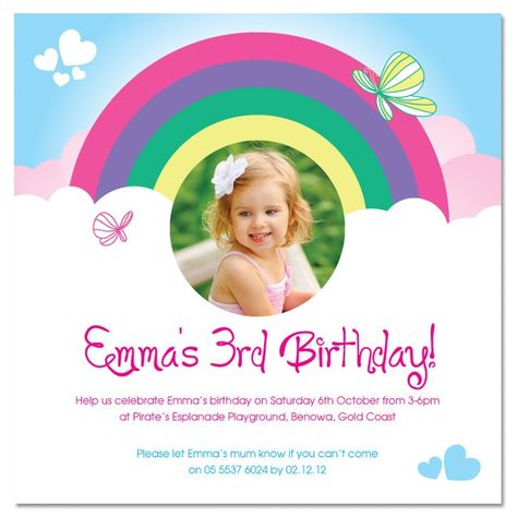 Simple And Lovely St Birthday Invitations Birthday Invitation - Birthday invitation gold coast