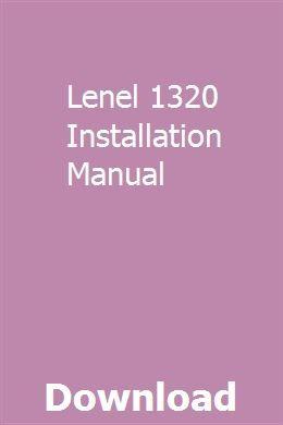 Lenel 1320 Installation Manual Installation Manual Motorola