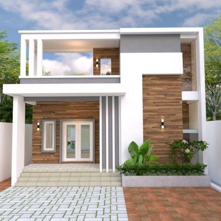 Home Design Plan 19x14m With 4 Bedrooms Home Ideas Small House Design Plans House Design Bungalow House Design