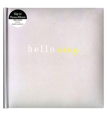Anker Hello Baby Grey Album 7x5 10212798 56 Advantage Card Points