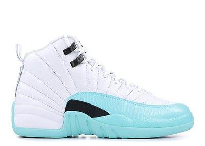 Air Retro 12 White//Metallic Gold-University Blue 510815-127 Lover Couple Leather Basketball Shoes for Men Women