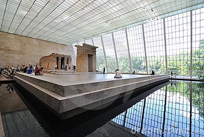 Temple Of Dendur In Metropolitan Museum Art Editorial Photography