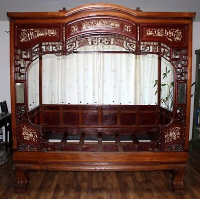 b71502a6d81a Chinese Beds for Sale | For Sale: Antique Chinese Wedding Bed, Rosewood And  Ox Bone - Chinese .