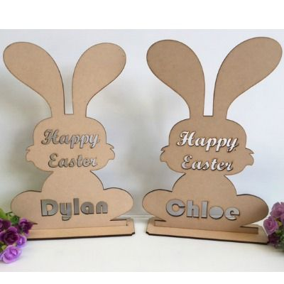 Laser Cut 3mm Plywood Wooden Bunting /& Letters Paw ** ADD YOUR NAME **