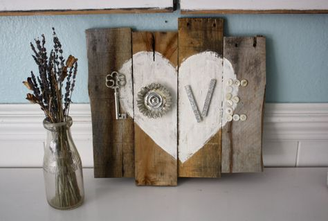 Shabby LOVE Pallet Heart by funkiefinds on Etsy, $29.50
