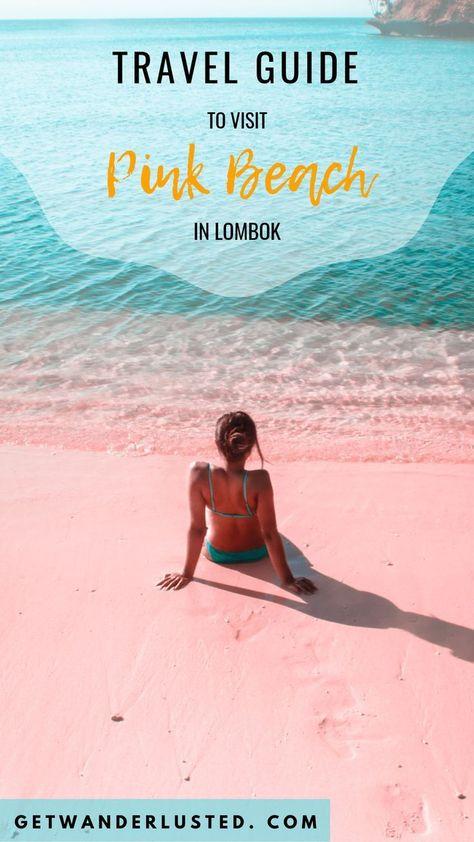 Travel Guide to Visit Pink Beach in Lombok #pinkbeach #lombok #indonesia #travel #traveltips #traveldestinations #traveltoindonesia #explore #getwanderlusted #traveltobali