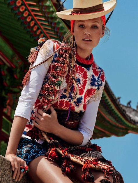 Model: Toni Garrn for Vogue Germany in