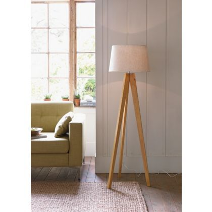 Kitty Tripod Wood Floor Lamp At Homebase Be Inspired