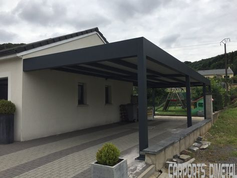 Carport Aluminium Tori Portails Abri De Voiture Moderne Auvent Voiture