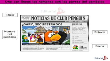 El Periodico Para Niños Y Las Notas Periodísticas Material Para Imprimir Pre Kinder Cartoon Cat Drawing Teachers Pay Teachers
