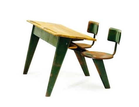 School desk for two by Jean Prouvé (1949)