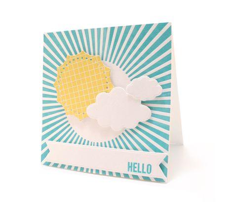 #Hello #Sunshine card with letterpress background @Indra Paasse Fortney Crafts #lifestylecrafts