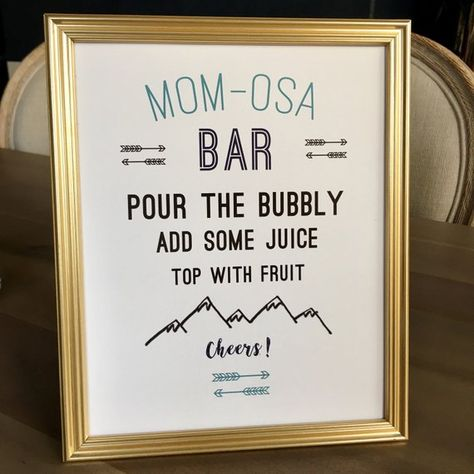 Momosa Bar Sign, Wilderness Baby Shower Mimosa Bar Sign, Adventure Theme Baby Shower Decor, Mimosa S