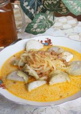 Resep Lontong Sayur Labu Siam : resep, lontong, sayur, Lontong, Sayur, (sambel, Goreng, Tahu), Masakan, Indonesia,, Masakan,, Resep