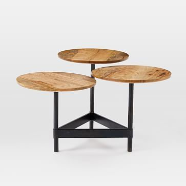 Tiered Circles Coffee Table Raw Mango Westelm Round Coffee