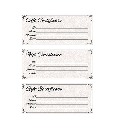 click here for full size printable gift certificate Gift - gift certificate template pages