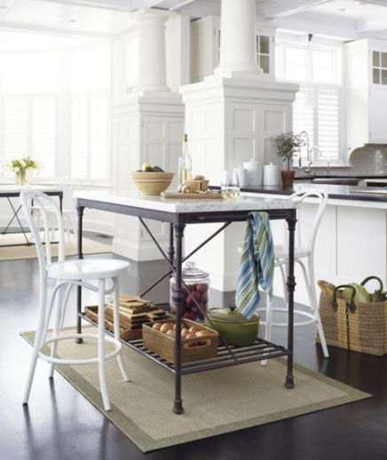 36 Best Ideas Kitchen Island Storage Crate And Barrel In 2020 Bistro Kitchen Decor Marble Top Kitchen Island Kitchen Island Storage