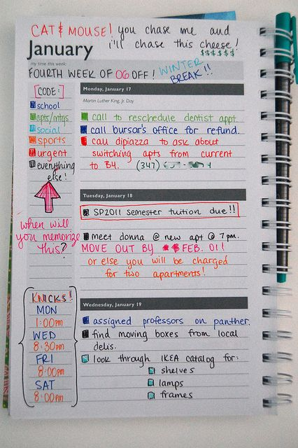 really pretty planner ORGANIZEOffice Pinterest Planners - sample school agenda