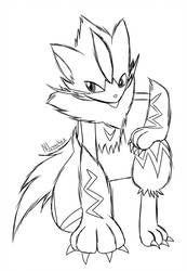 Zeraora Doodle By Nlunachi Moon Coloring Pages Pokemon Coloring