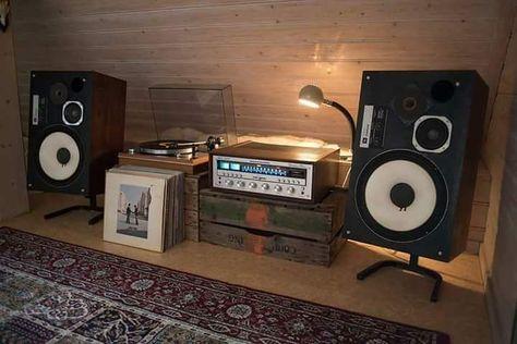 Plexiglas furniture hi-fi  70s vintage audio