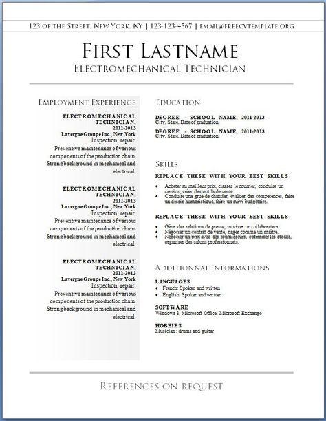 De 25+ bedste idéer inden for Cv template nz på Pinterest Bmw - singer resume template