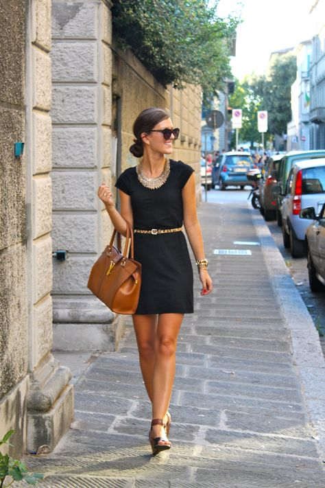 Add a belt to your casual LBD