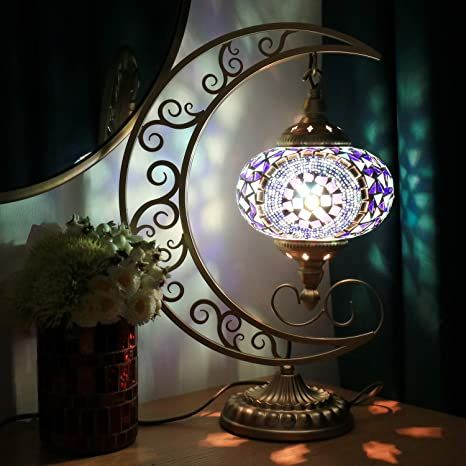 Google Image Result For Https Images Na Ssl Images Amazon Com Images I 71bi3iymeul Ac Sx466 Jpg Mosaic Lamp Unique Table Lamps Bedside Lights Lamps