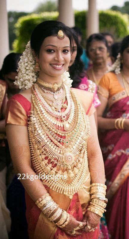 Heavy Kerala Gold Bridal Jewellery Bridal Jewellery Indian Indian Bridal Wear Indian Bridal Outfits