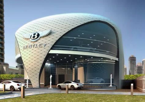 Dubai Bentley Showroom approved design pre final implementation.