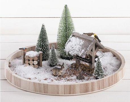 "Miniature Dollhouse FAIRY GARDEN Christmas ~ TINY 1/"" Snow Village Store ~ NEW"