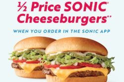 1 2 Price Sonic Cheeseburgers In 2020 Cheeseburger Food Sonic