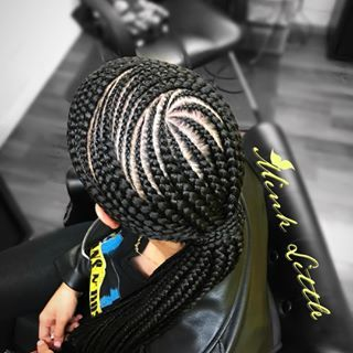 Pin By Lakerra Mcgilberry On Birdie S Beauty Bar Pm Special Feed In Ponytail Feed In Braids Ponytail Braided Ponytail