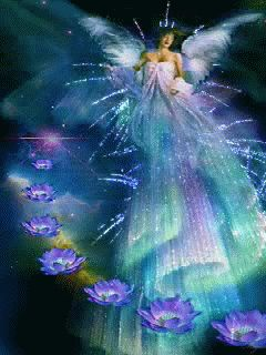 """Angel With  Lotus - """"God always has an Angel of help for those who are willing to do their duty """" ^i^  ^i^"""