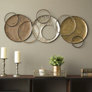 Abstract Geometric Metal Wall Art You Ll Love Wayfair Plate Wall Decor Plates On Wall Stratton Home Decor