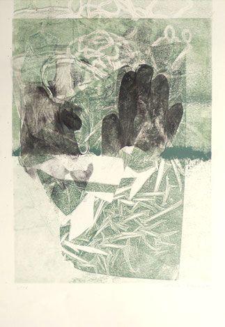 Bellenbaum - experimentelle Druckgrafik, Materialdruck mit
